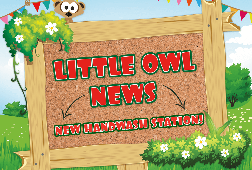 Little Owl News: Outdoor Handwash Station!